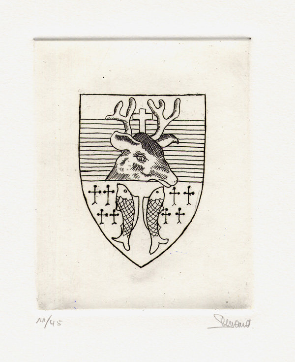 1 Blason De Prix-les-Mézières, Eau-forte, 18x24 cm