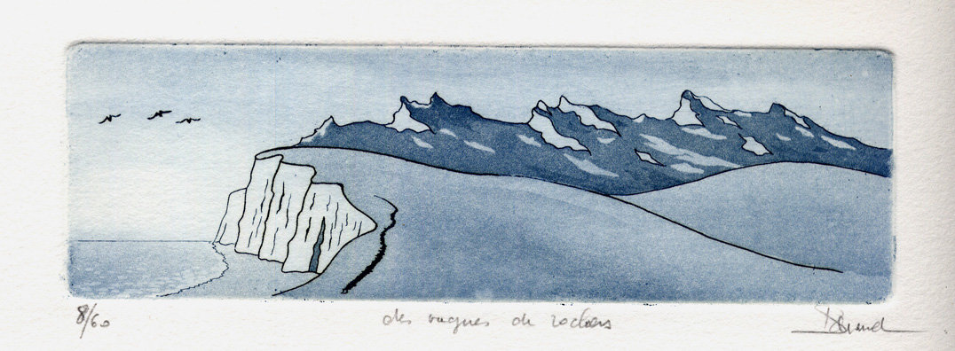 43 Des vagues de rochers, Eau-forte et aquatinte, 19x28,5 cm