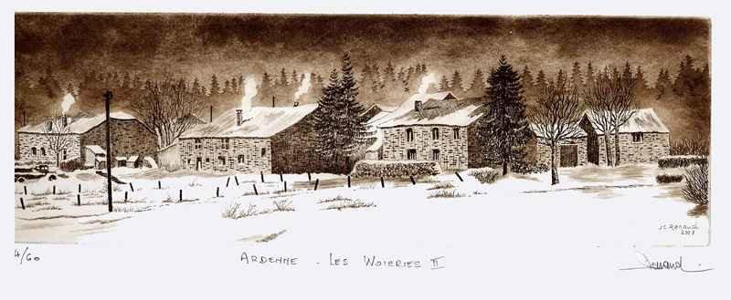 184 Les Woieries II, Eau-forte et aquatinte, 26x46 cm