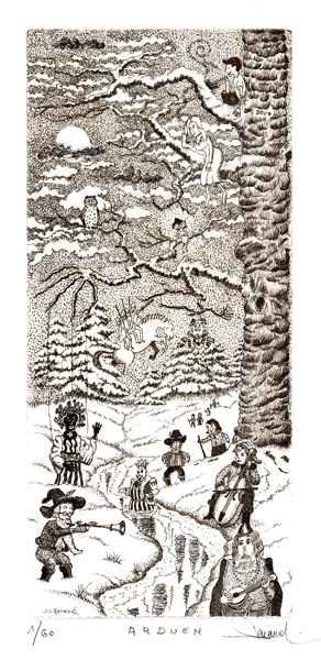 201 Arduen, Eau-forte, 25x36 cm