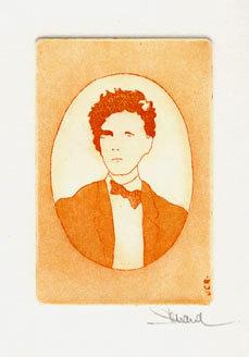 37 Arthur Rimbaud, Eau-forte et aquatinte, 18x24 cm