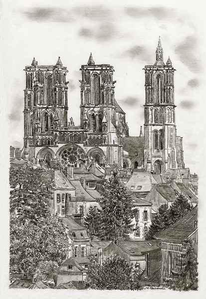 Cathédrale De Laon - Mine De Plomb