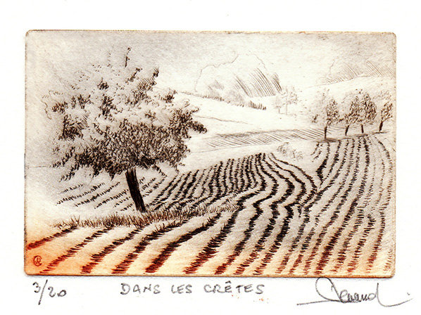 206 Dans Les Crêtes, Pointe-sèche, 18x24 cm