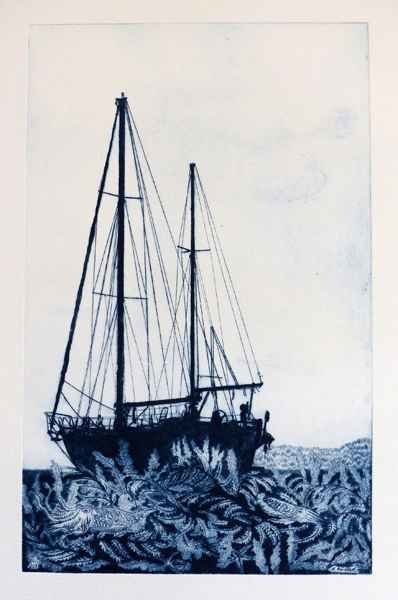 226 Escale, Pointe-sèche, 30x40 cm