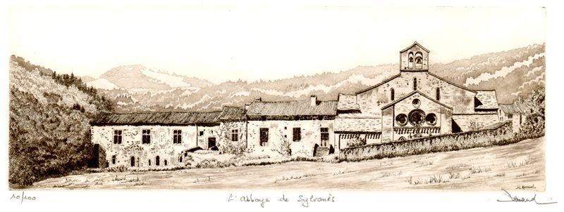 168 L'abbaye De Sylvanès, Eau-forte et aquatinte, 34x57 cm