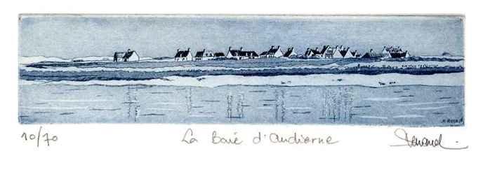 135 La Baie D'Audierne, Eau-forte et aquatinte, 19x24 cm