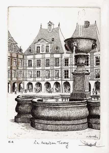 170 La Maison Toury, Eau-forte, 24x30 cm