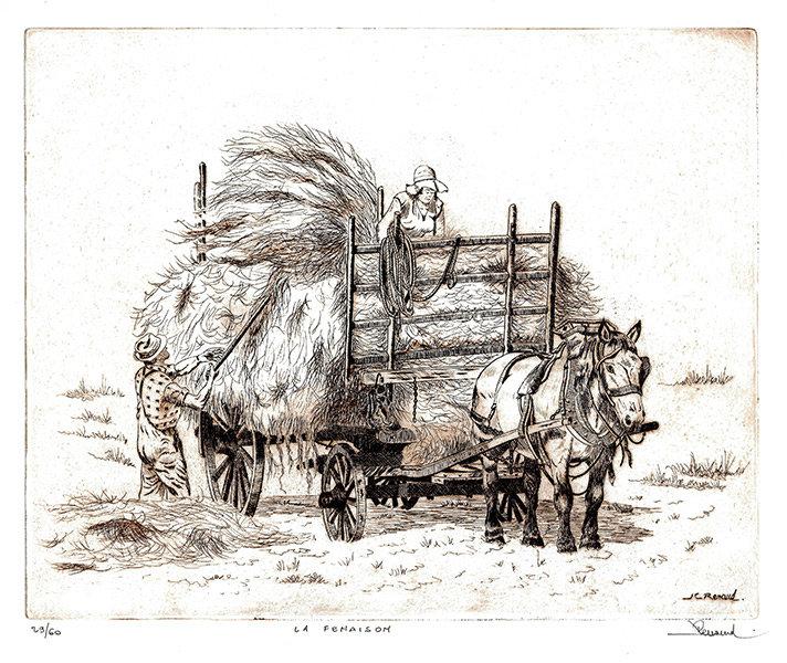 39 La Fenaison, Eau-forte, 40x50 cm