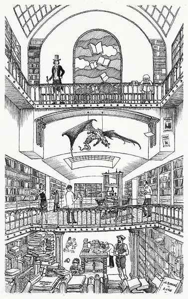 D685 La Librairie Intemporelle - Encre De Chine