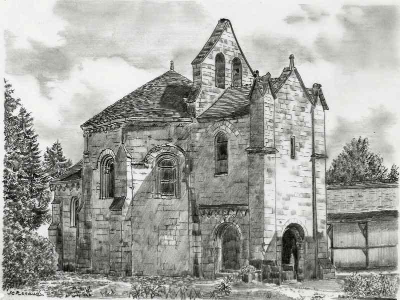 D682 Laon, Chapelle Des Templiers - Mine De Plomb
