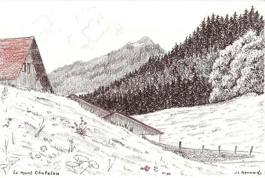 D554 Le Mont Chateleu - Crayon Gras