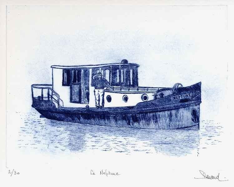 172 Le Neptune, Pointe-sèche, 24x30 cm