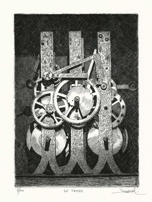 245 Le Temps, Eau-forte, 24x 28,5 cm