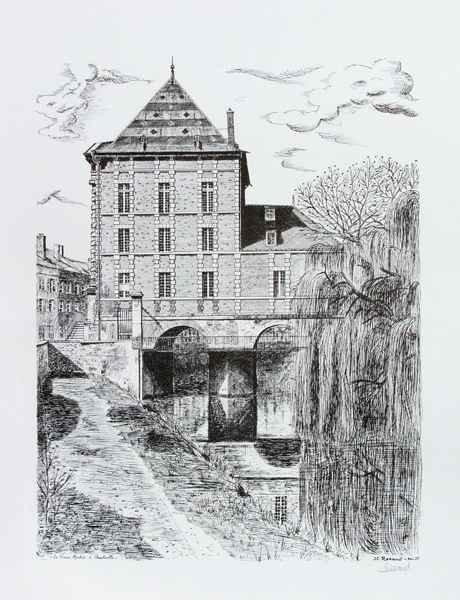 D115 Le Vieux Moulin - Encre de Chine (Repro) - 50x65 cm