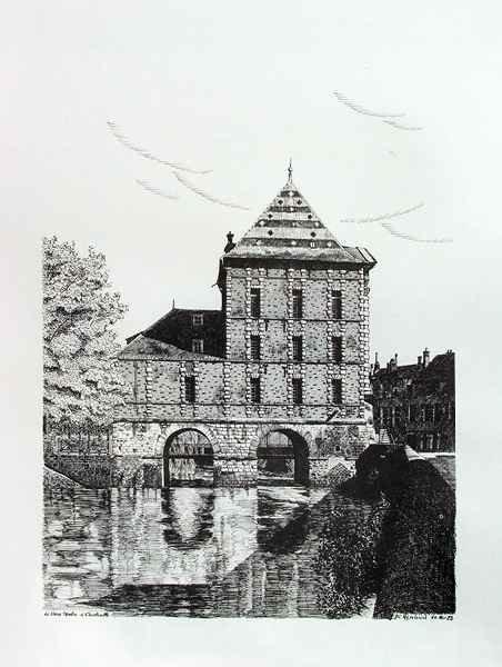 D142 Le Vieux Moulin - Encre de Chine (Repro) - 50x65 cm