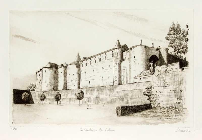 32 Le Château De Sedan, Eau-forte et aquatinte, 40x60 cm