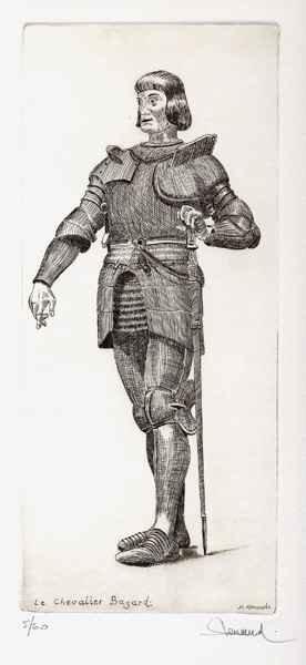 167 Le Chevalier Bayard, Eau-forte, 28x38 cm