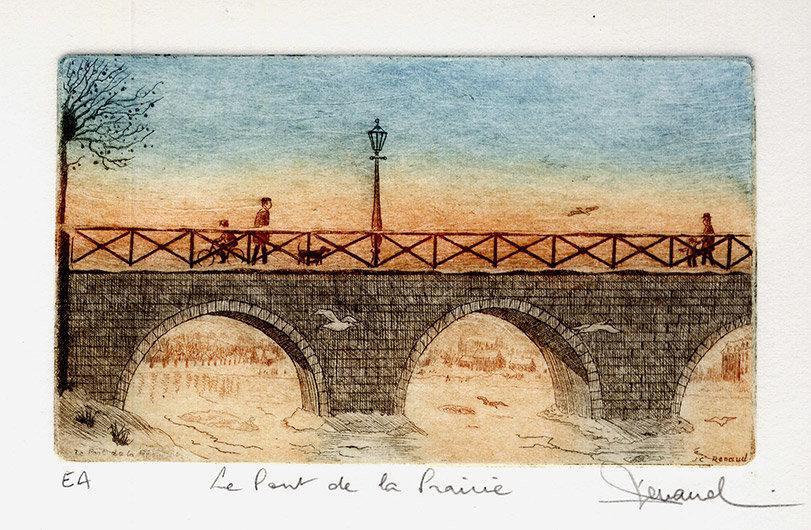 148 Le Pont De La Prairie, Eau-forte, 24x30 cm