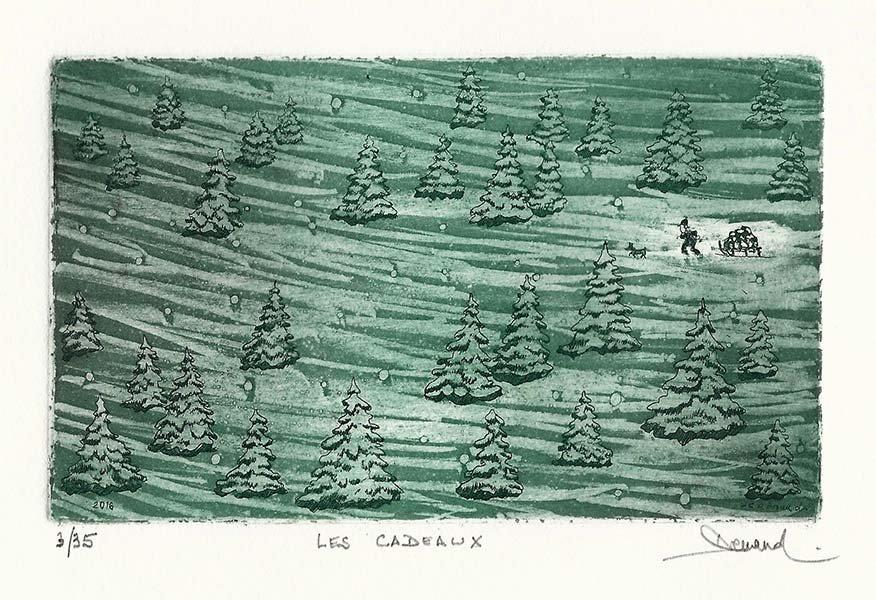 246 Les Cadeaux, Eau-forte et aquatinte,18x24 cm