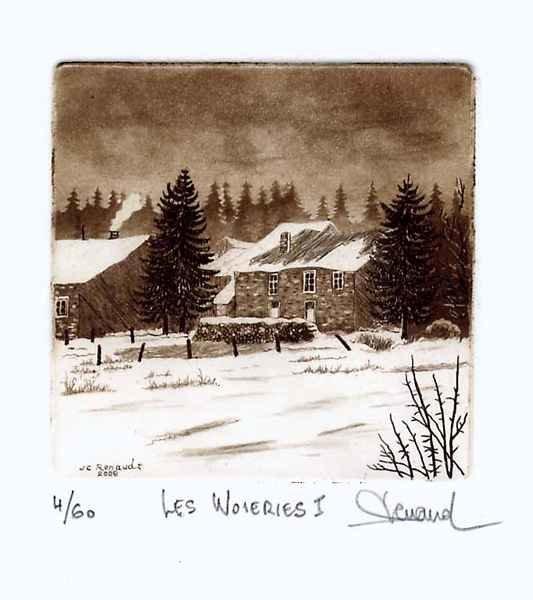 183 Les Woieries I, Eau-forte et aquatinte,18x24 cm