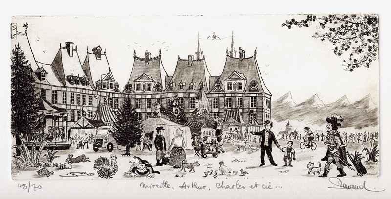 159 Mireille, Arthur, Charles Et Cie, Eau-forte, 25x36 cm