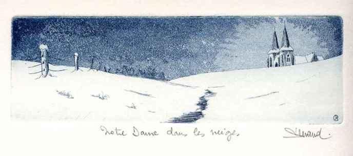 34 Notre Dame Dans Les Neiges, Eau-forte et aquatinte, 19x30 cm