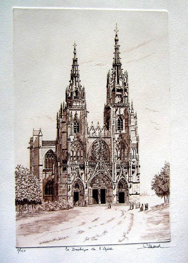 103 Notre Dame De l'Épine, Eau-forte, 40x50 cm
